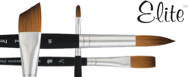 Elite™ Synthetic Kolinsky Sable Acrylic Painting Brushes