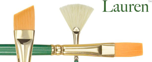 Lauren™ Golden Synthetic Painting Brushes
