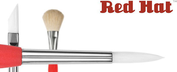 Red Hat™ White Synthetic Acrylic Painting Brushes