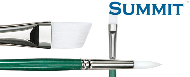Summit™ White Synthetic Oil Painting Brushes
