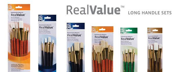 9100 Series Multiple Filament Type Long Handle Art Brush Set