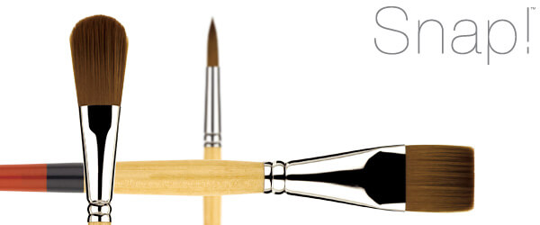 Snap!™ Golden Synthetic Acrylic Painting Brushes