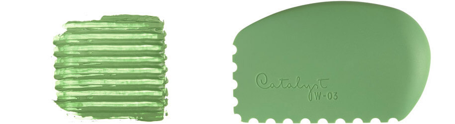 Silicone Wedge texture tool nb 3