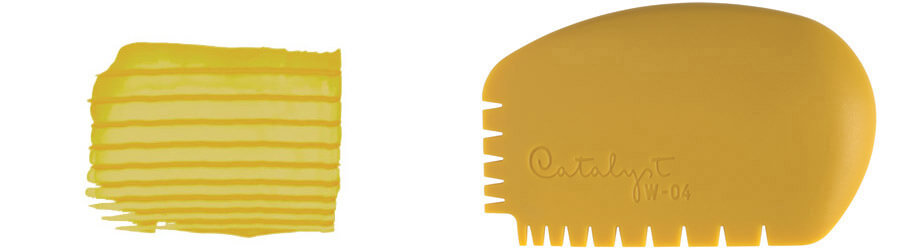 Silicone Wedge texture tool nb 4
