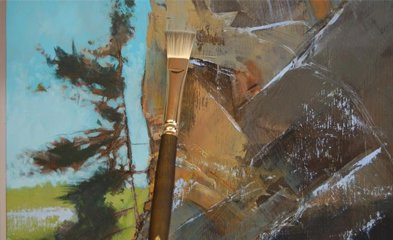 David Lidbetter paints with Princeton Umbria Short-Handle Brush