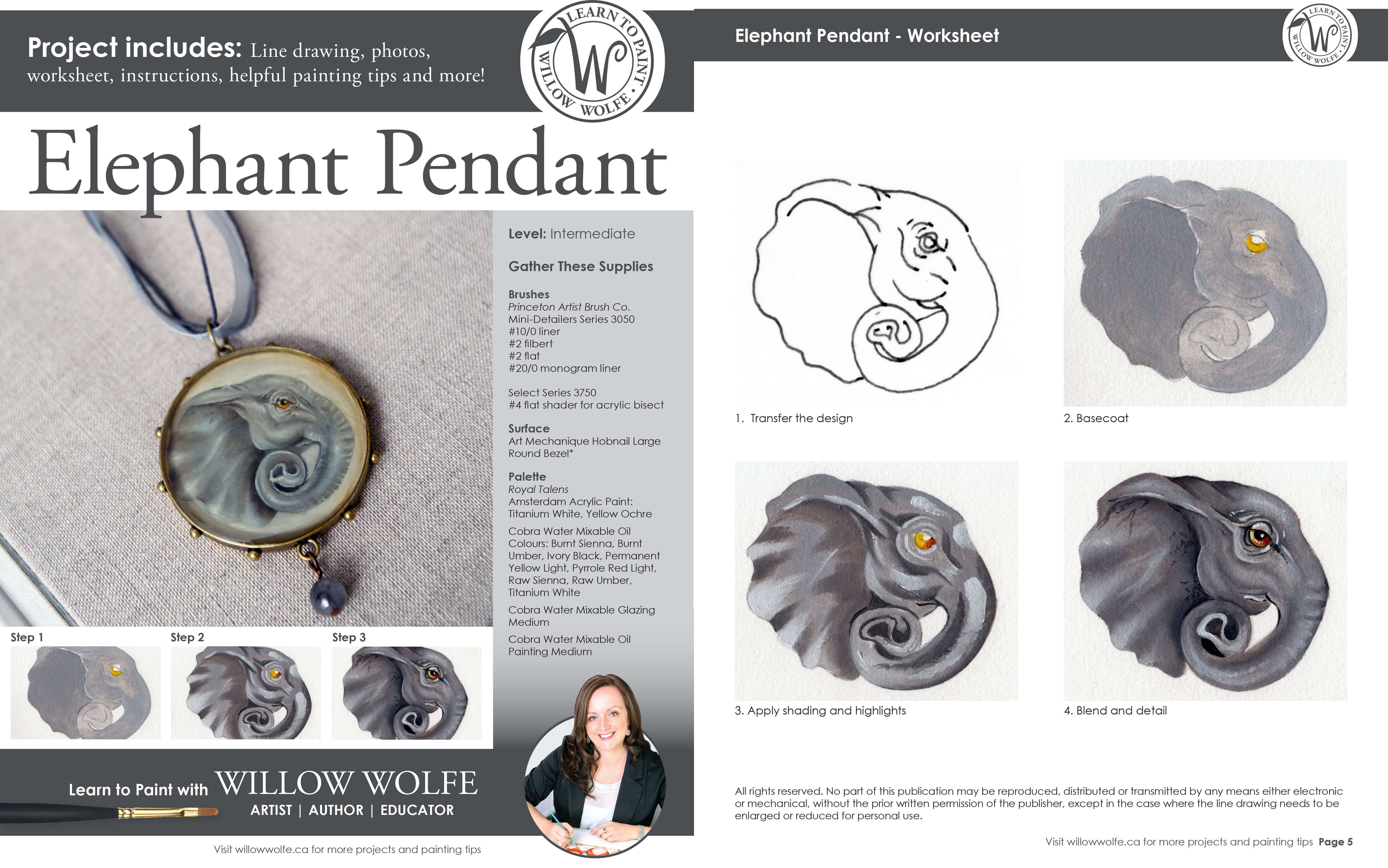 Free Painting Tutorial with Willow Wolfe