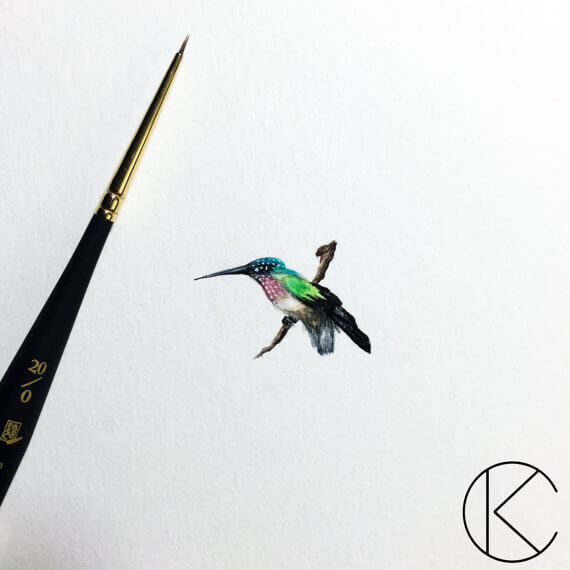 Hummingbird Micro Art Kendra Thomas