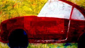 Red Car by K.D. Tobin, Abstract Artist