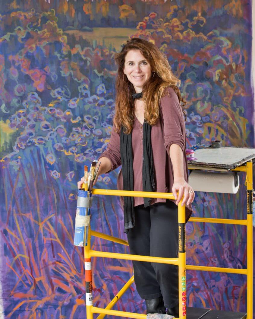 Princeton Artist Brush Co. interviews Nina Weiss, oil painter, landscape painter. Nina Weiss painting tips and techniques.