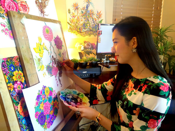 Sunny Gu Fashion Illustrator on Princeton Artist Brush Co.