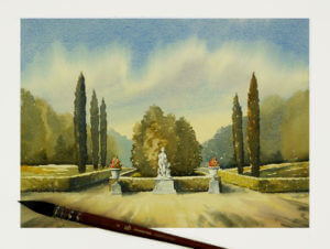Vladimir London paints with Princeton Neptune Synthetic Squirrel Brush