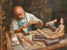 Geppetto by Richard Stergulz on Princeton Artist Brush Co.