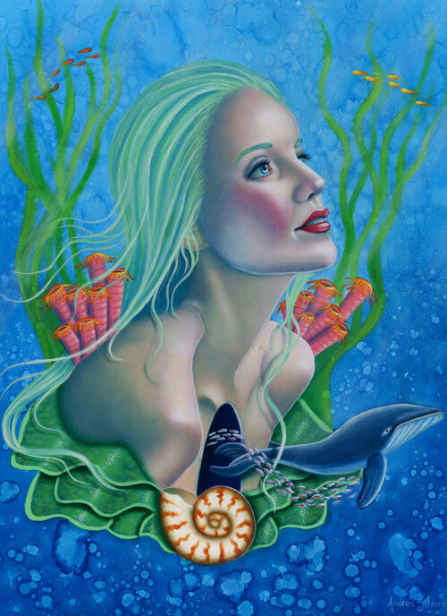 Ocean's Heart by Andres Silvera on Princeton Artist Brush Co. website
