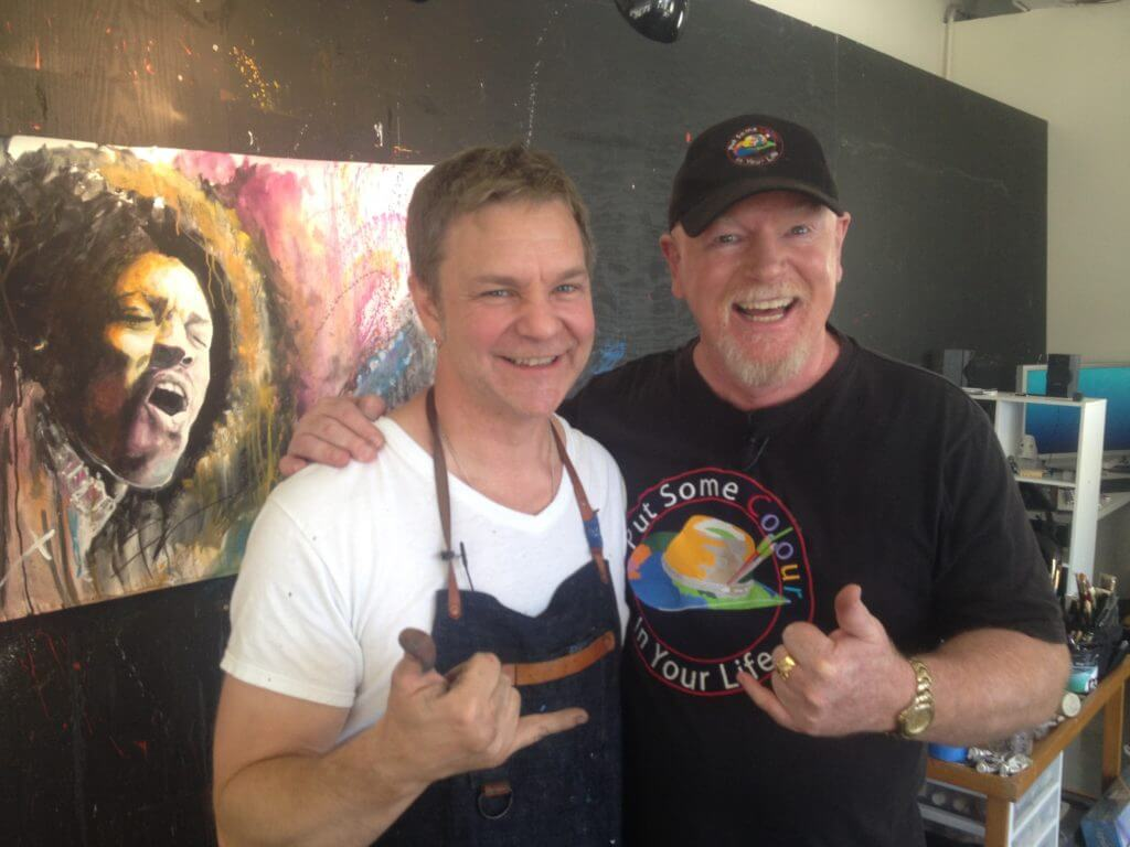 Rob Prior Artist on Put Some Colour In Your Life TV show uses Princeton Artist Brush Co. brushes