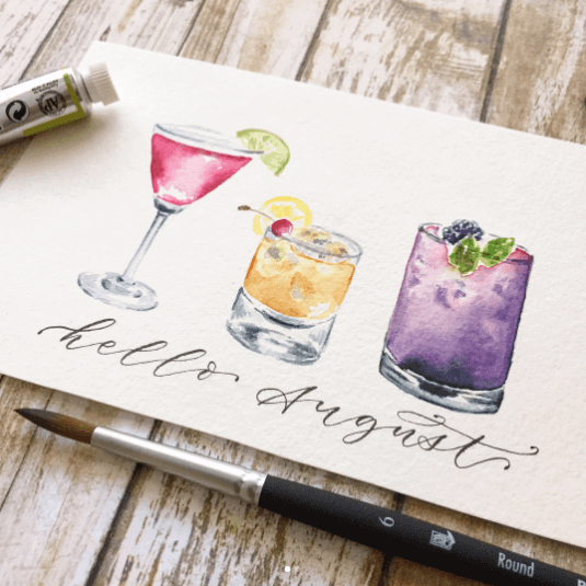 Watercolor painting by Jess Park using Princeton Elite Series brushes
