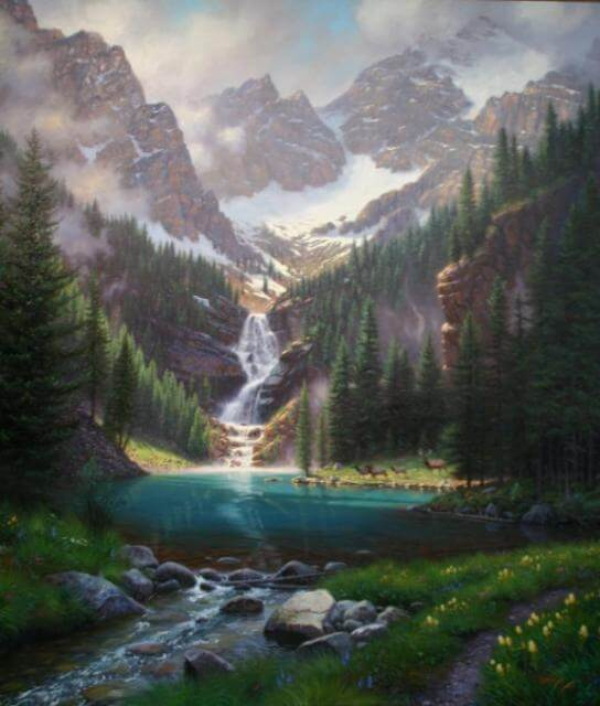 Lake Solitude by Mark Keathley on Princeton Artist Brush Co.