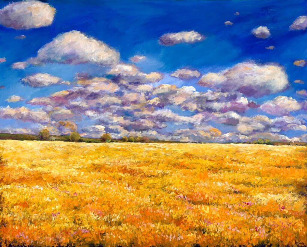 Fields of Gold Acrylic Painting by Johnathan Harris - Princeton Artist Brush Co.