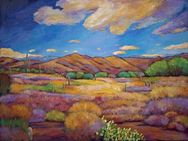 Resplendent Southwest Acrylic Painting by Johnathan Harris - Princeton Artist Brush Co.