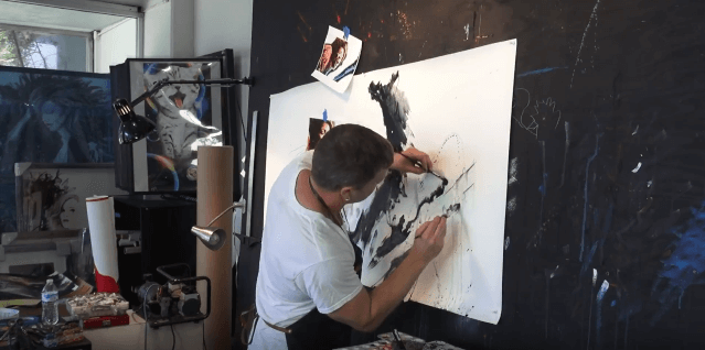 Rob Prior Painting with Princeton Umbria Brushes