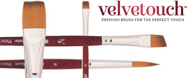 Velvetouch™ Luxury Synthetic Blend Painting Brushes