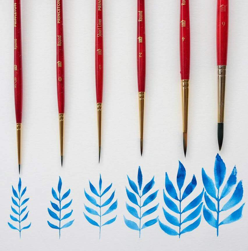 Princeton 4050-16 16 Short Handle Round Series 4050 Synthetic Sable Watercolor Brushes